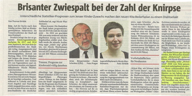 Kitabedarfsplanung sorgt für Wirbel - AWO Kreisverband Jena-Weimar e.V.